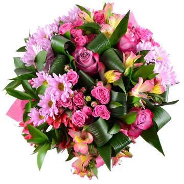 Фото букета в розовых тонах